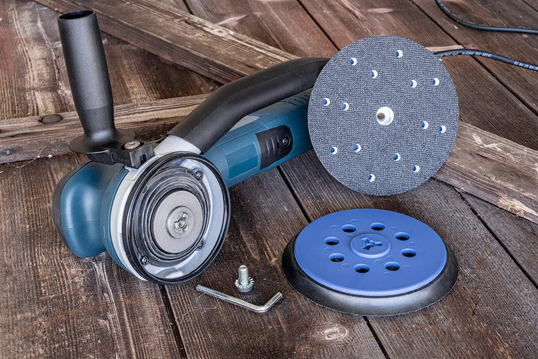 DFS Schleifteller 150mm Klett 15-Loch f/ür Bosch GET 75-150 Multi-Loch f/ür Bosch Professional Exzenterschleifer Ersatzteil soft//weich