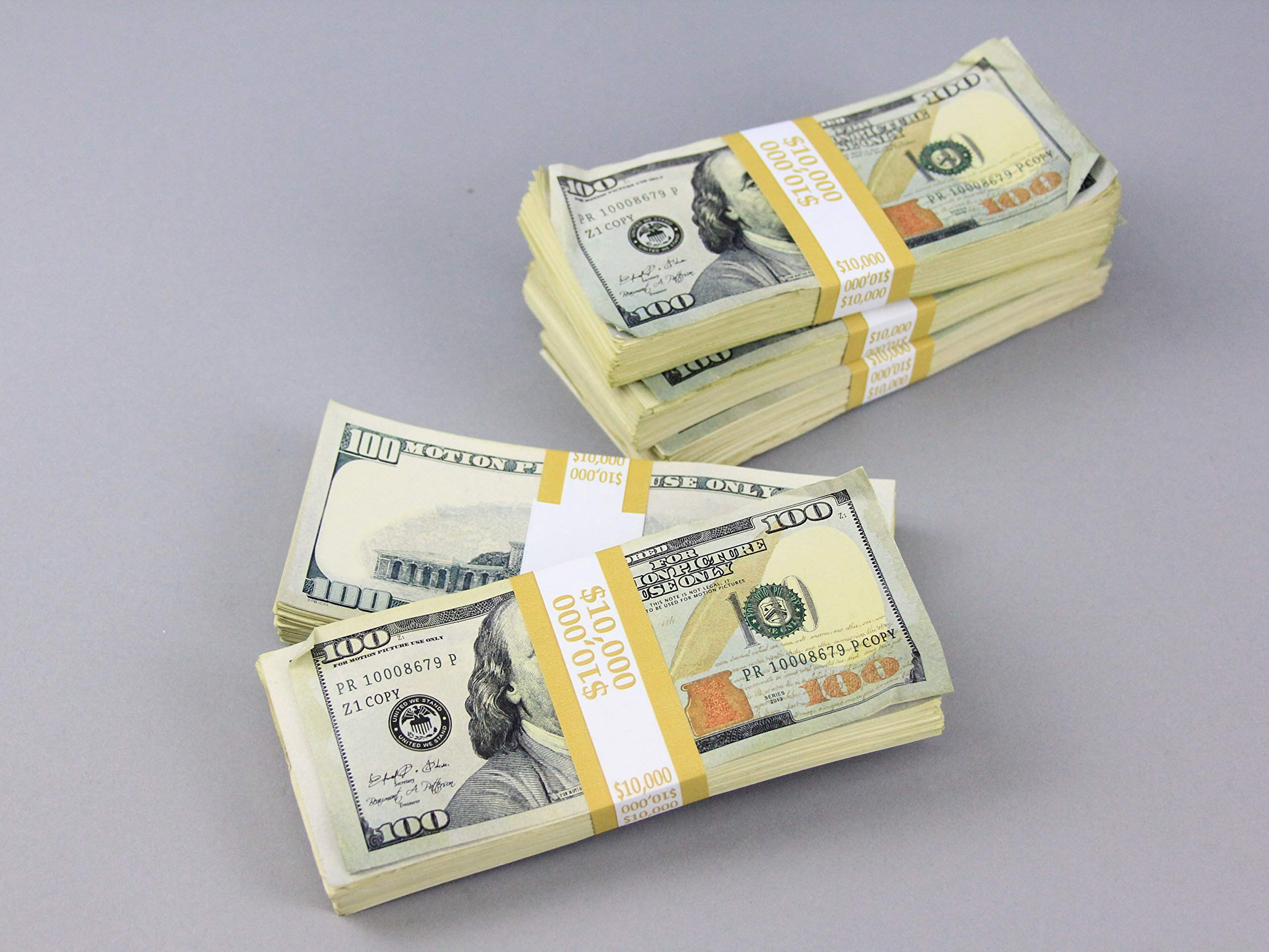 PROP MONEY Real Looking AGED Copy NEW STYLE $100s Total $50,000 FULL PRINT Pack - Total $10,000 for Movie, TV, Videos, Advertising & Novelty