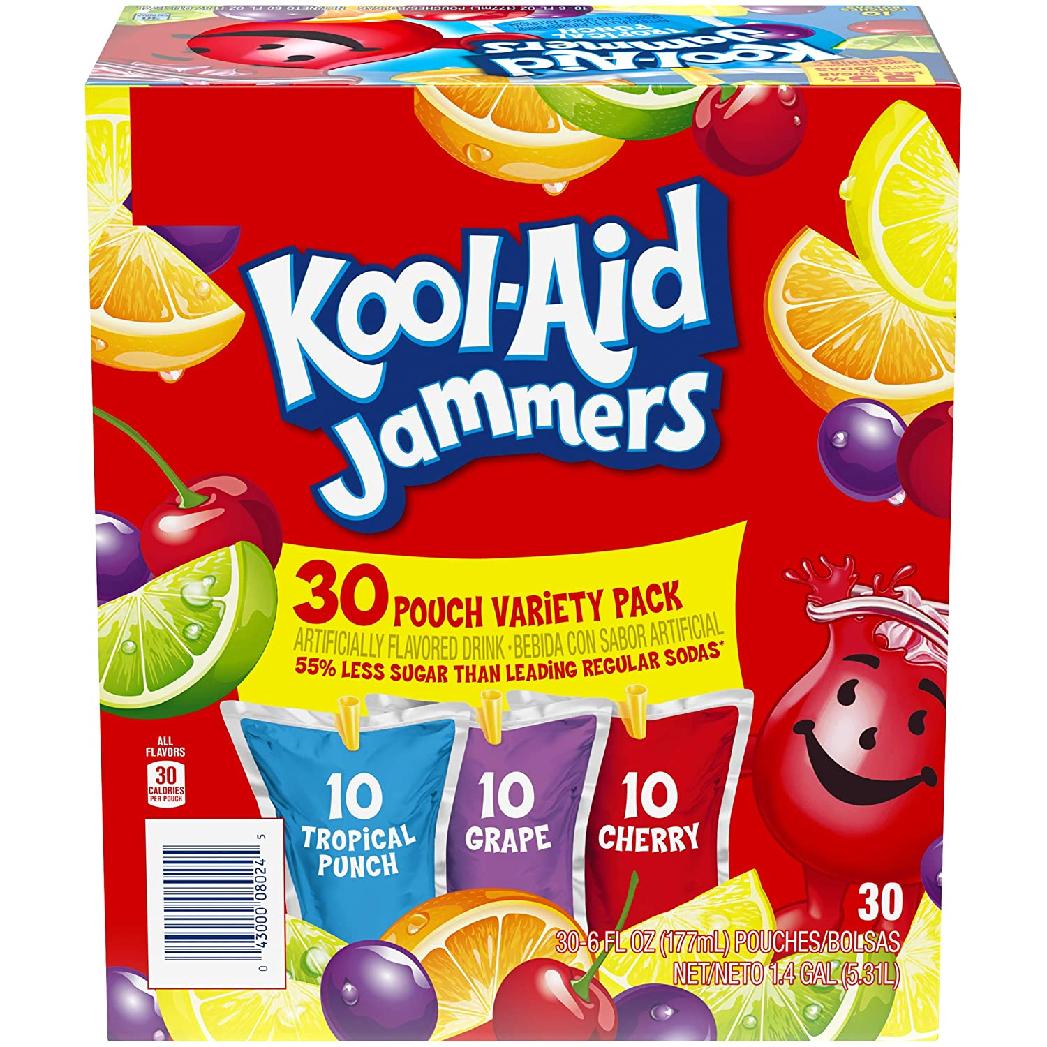 Kool-Aid Jammers Variety Pack 30 - 6 OuncePouches, 30Count