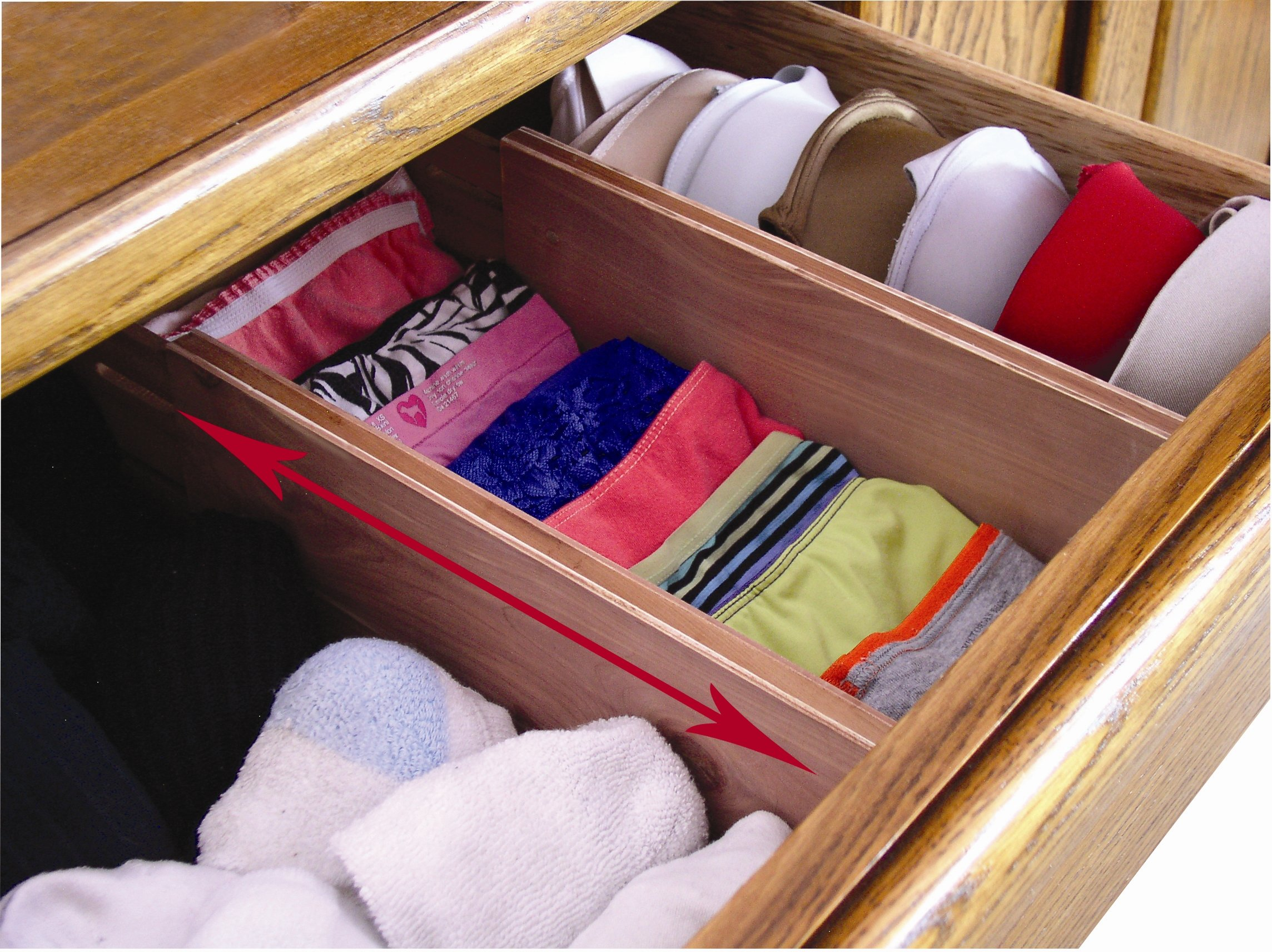 Axis International Marketing Drawer Dividers 3 pc Cedar Expandable for Dresser, Set, Piece by Axis International Marketing (Image #3)