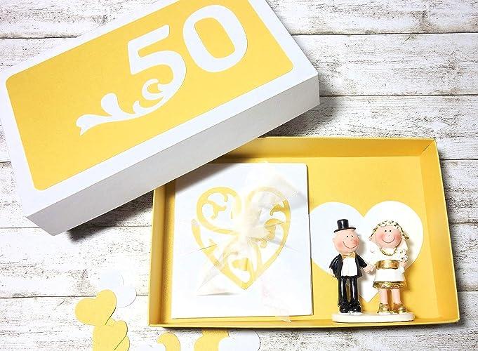 Geldgeschenk Geschenk Verpackung Zur Goldenen Hochzeit Amazon De