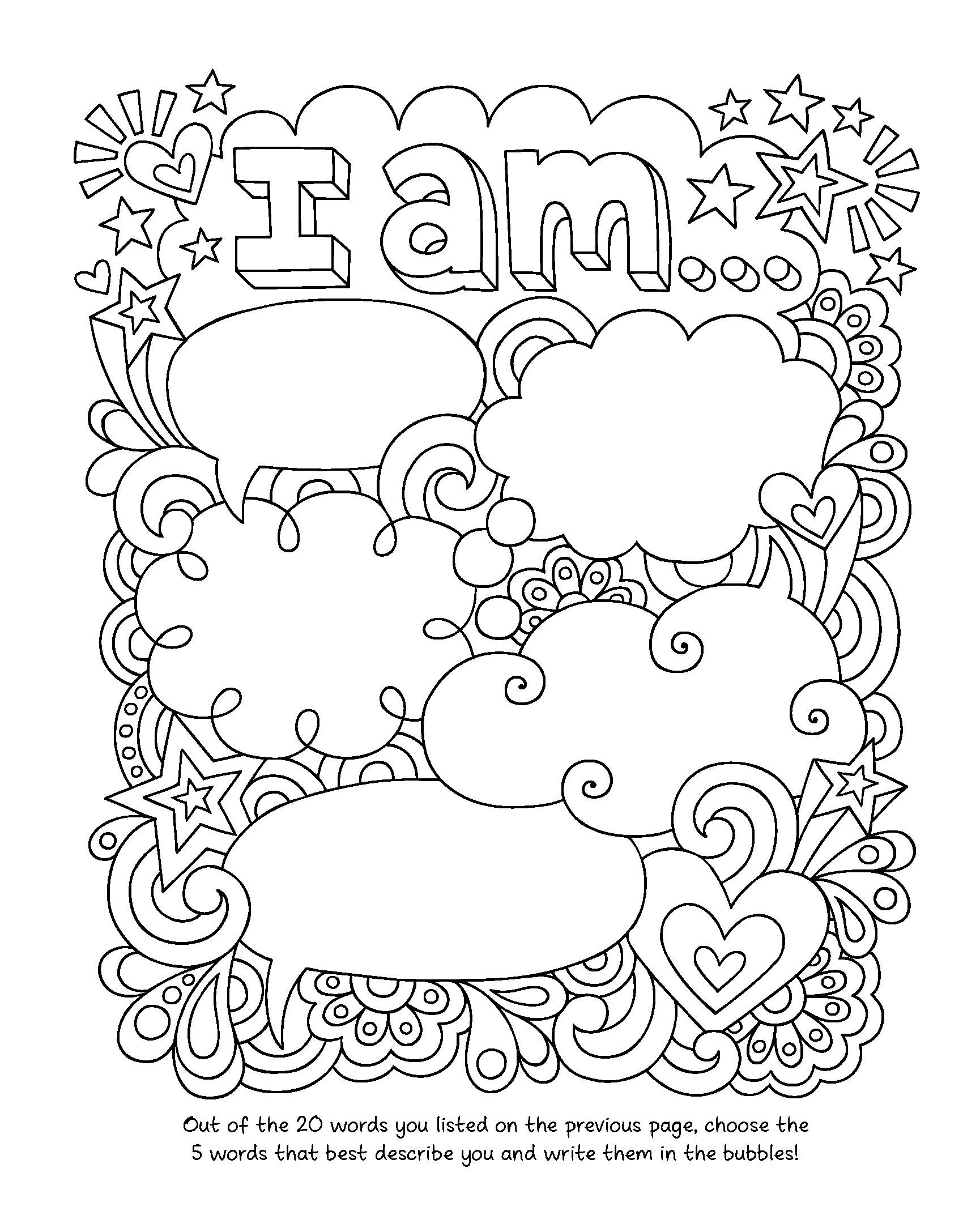 Notebook Doodles Go Girl Coloring  Activity Book Design