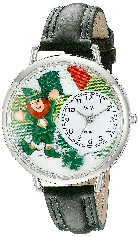 Whimsical Watches WHIMS-U1224001 - Reloj analógico de cuarzo unisex con correa de piel, color verde