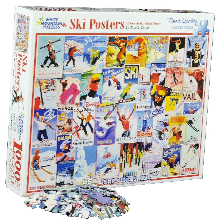 Ski Posters - 1000 Piece Jigsaw Puzzle
