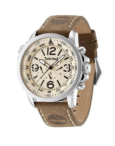 Marron Beige Timberland Campton Quartz Bracelet Cadran Montre 13910js07 Homme Analogique Cuir Tbl GqUVzpLSM