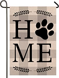 Atenia Dog Home Garden Porch Flag, Double Sided Garden Outdoor Yard Spring Decorative Home Flags for Summer Decor (Garden Size - 12.5X18)