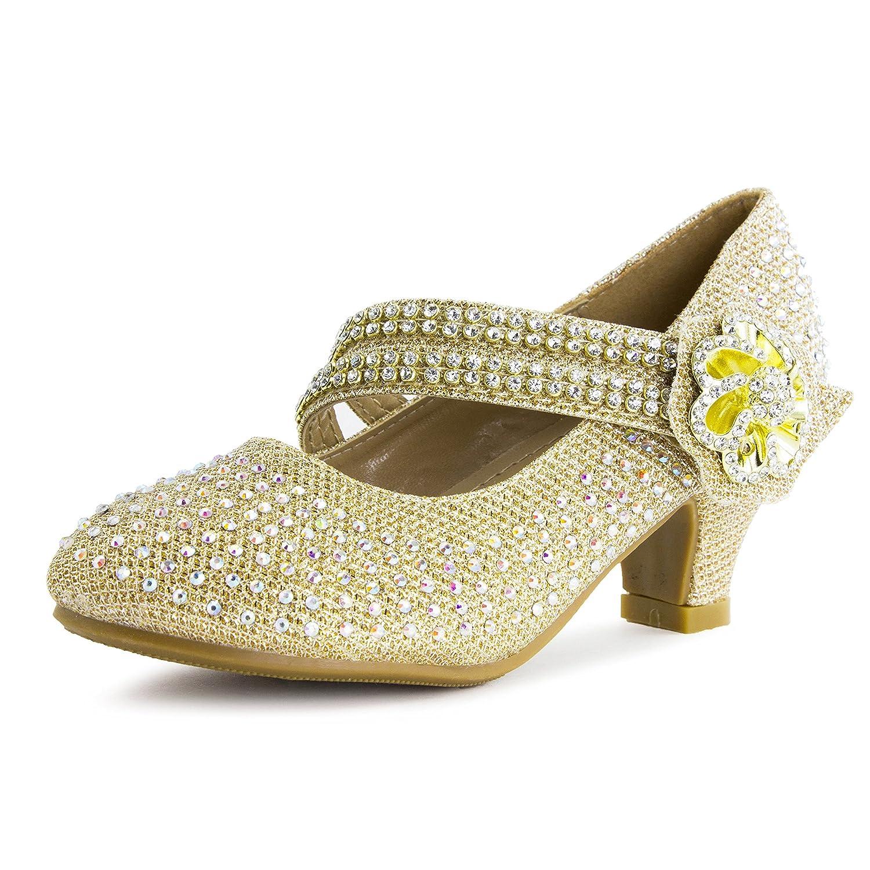 Girls Peagent Ball Party Wedding Medium Height Dress Heels(Toddler/Little Kid/Big Kid) Link