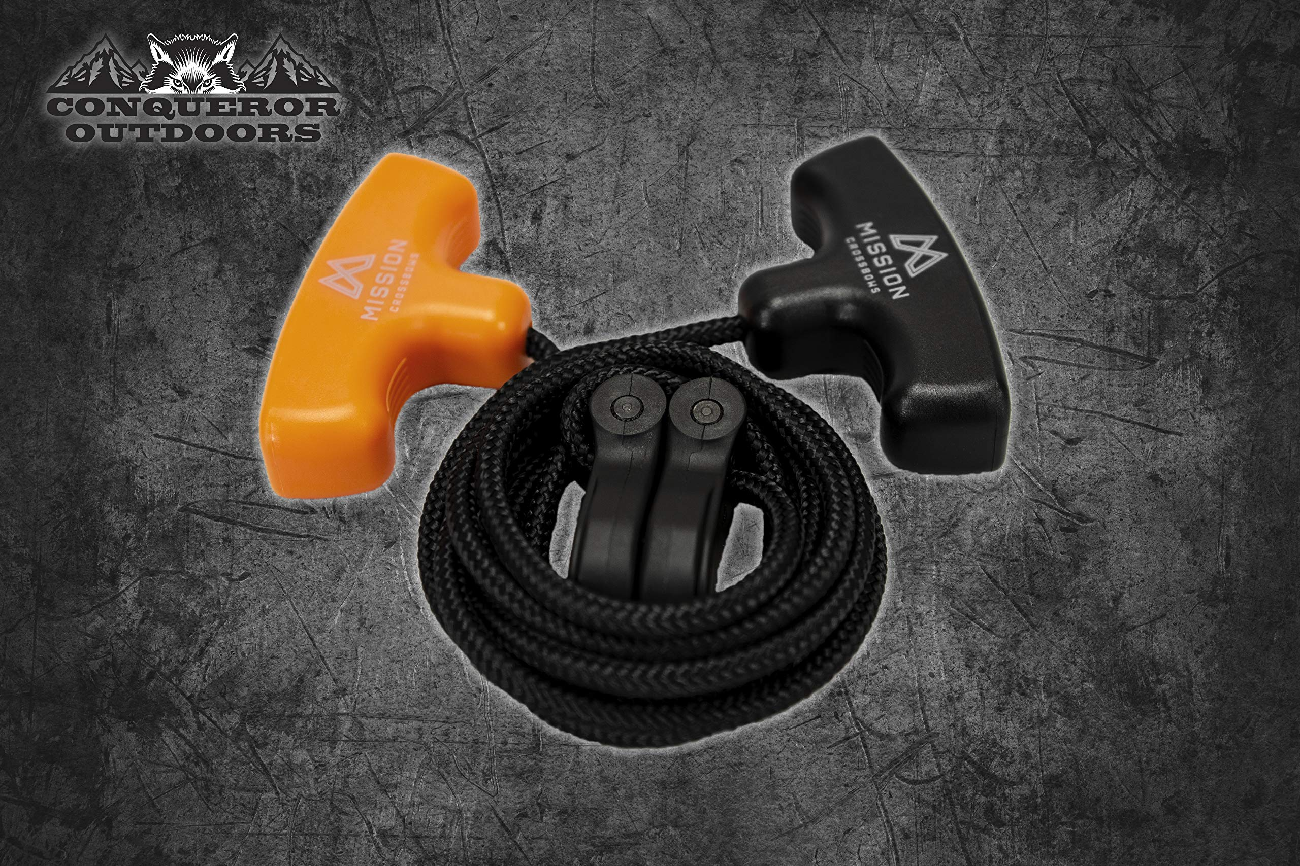 MISSION COCKING AID (ROPE)   80676   CLASSIC CROSSBOW PORTABLE COCKING TOOL   SHOCK ABSORBENT   ABRASION RESISTANT   SMOOTHLY BRAIDED   SAVE 50% EFFORT   T-HANDLES   UNIVERSAL USE   QUICK LOAD FOR ALL