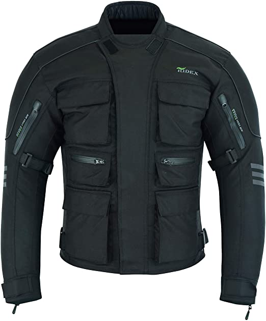 Herren Ridex Cj1 Motorrad Jacke Schutz Wasserdicht Bekleidung