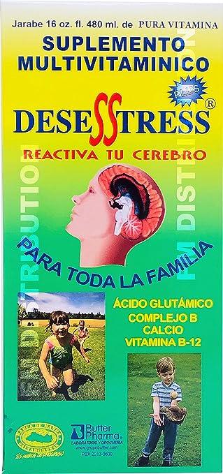 Amazon.com: Desesstress Plus Liquid B-Complex - Complejo B para Reactivar Tu Cerebro - 16 Fl Oz: Health & Personal Care