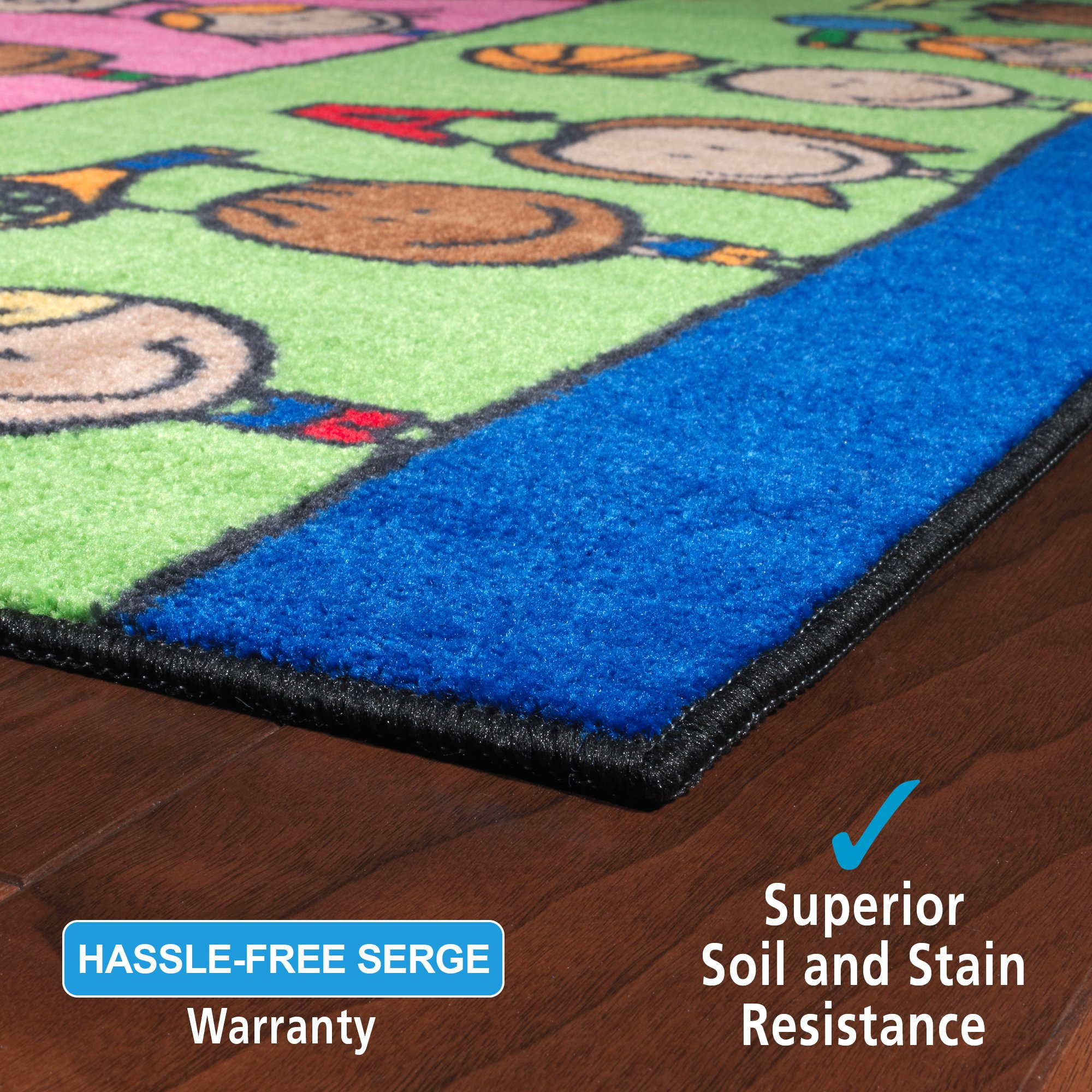 Flagship Carpets CE190-28W Fun at School Rug, Explore Health and Wellness As Well As STEAM Subjects, Children's Classroom Educational Carpet, 5' x 8', 60'' Length, 96'' Width, Multi-Color by Flagship Carpets (Image #5)