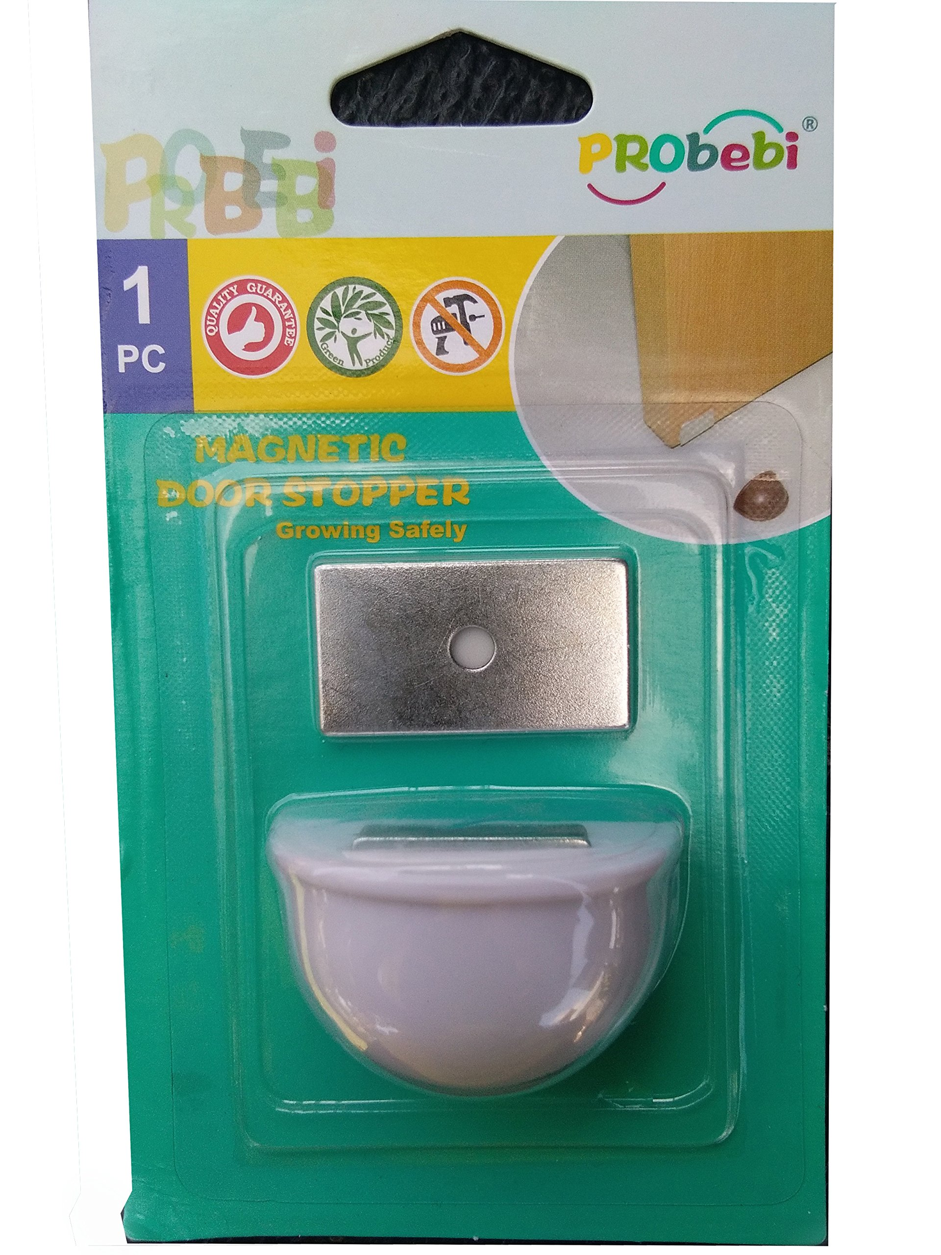 Magnetic Door Stopper Prevent Slamming Shut and Avoid Injuries Child's Lock with Two Sided Mounting Tape