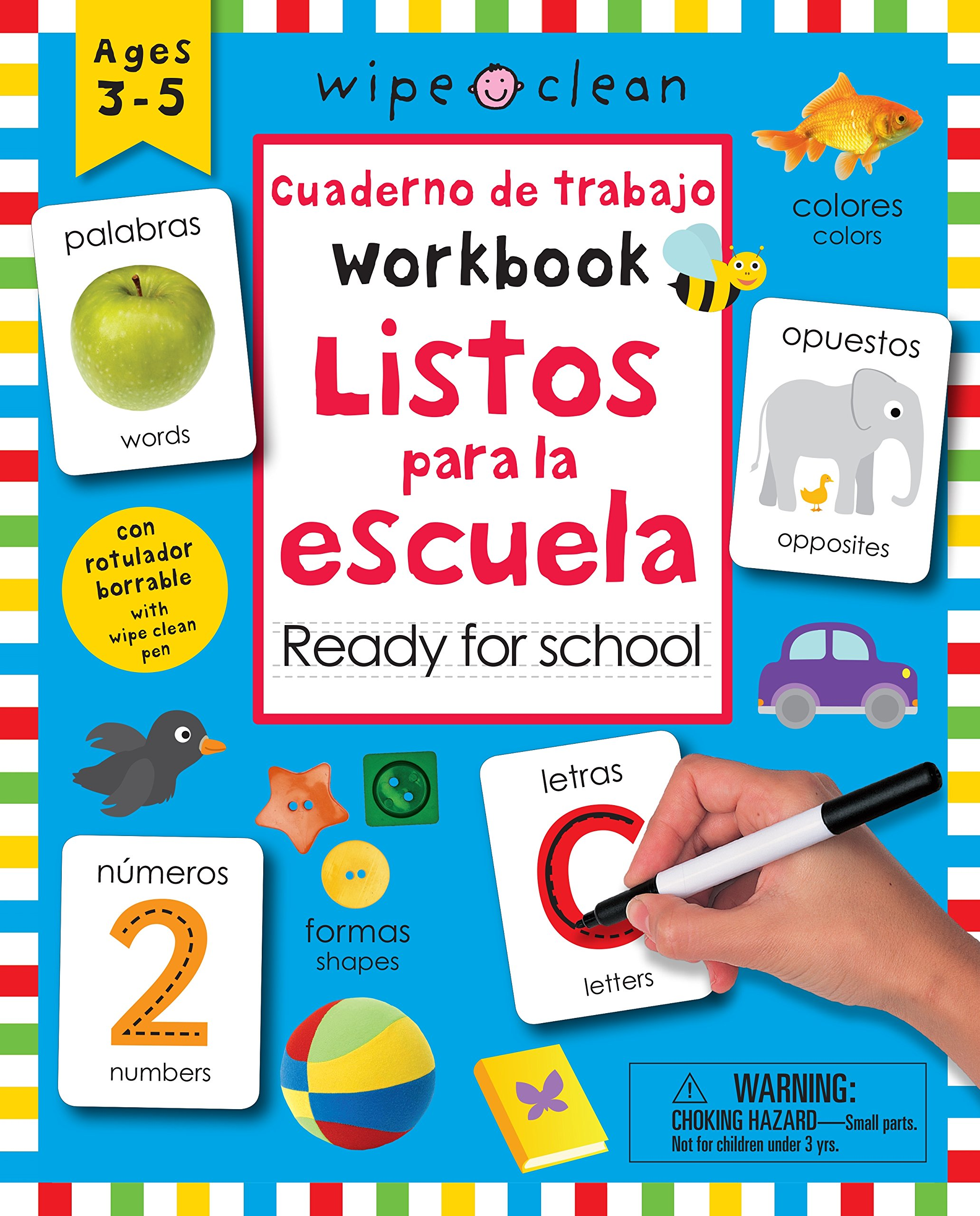 Wipe Clean: Bilingual Workbook Ready for School Encuadernación en espiral – 12 sep 2017 Roger Priddy PRIDDY BOOKS 031252529X Activity Books