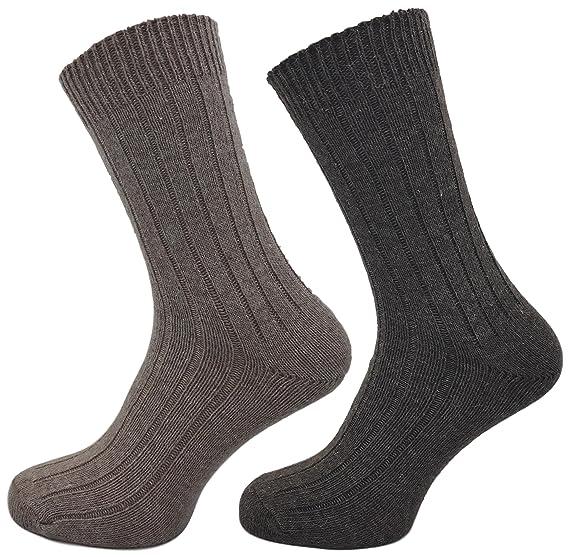 S70 x 2 pares de calcetines de alpaca suaves calcetines calientes de lana tejidos gordos o finos V2: Amazon.es: Ropa y accesorios