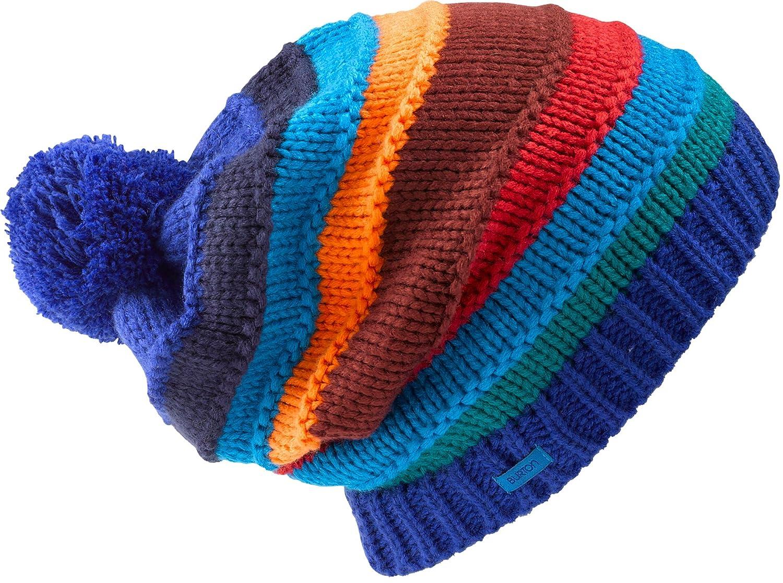 79789158e7c Amazon.com   Burton Candystripe Beanie Deja Blue Womens   Skull Caps    Sports   Outdoors