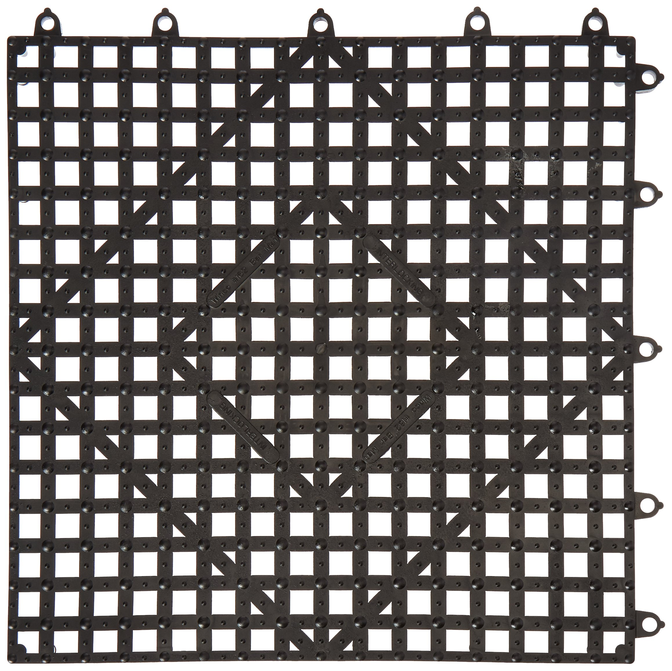 Winco BML-12K Interlocking Bar Mat, 12 by 12-Inch, Dark Smoke