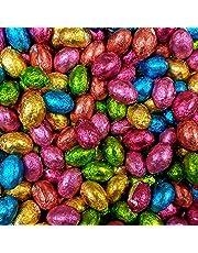 Sólido Chocolate Con Leche Foil Huevos De Pascua x 500g (Aprox 100 Huevos),