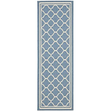 Amazon.com: Safavieh Courtyard Collection CY6918-243 Blue and Beige ...