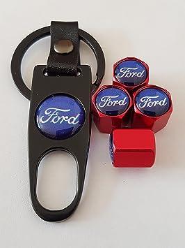 Ford azul superior rojo coche neumático válvula de polvo ...