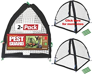 "Nuvue Products 32102, 28"" x 28"" x 30"", 2 Pack Pest Guard Cover, Two-Pack, Black"