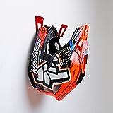 BESTUNT Supporto per casco per moto - Rack per scaffali per scaffali Accessori per montaggio a parete | Rosso