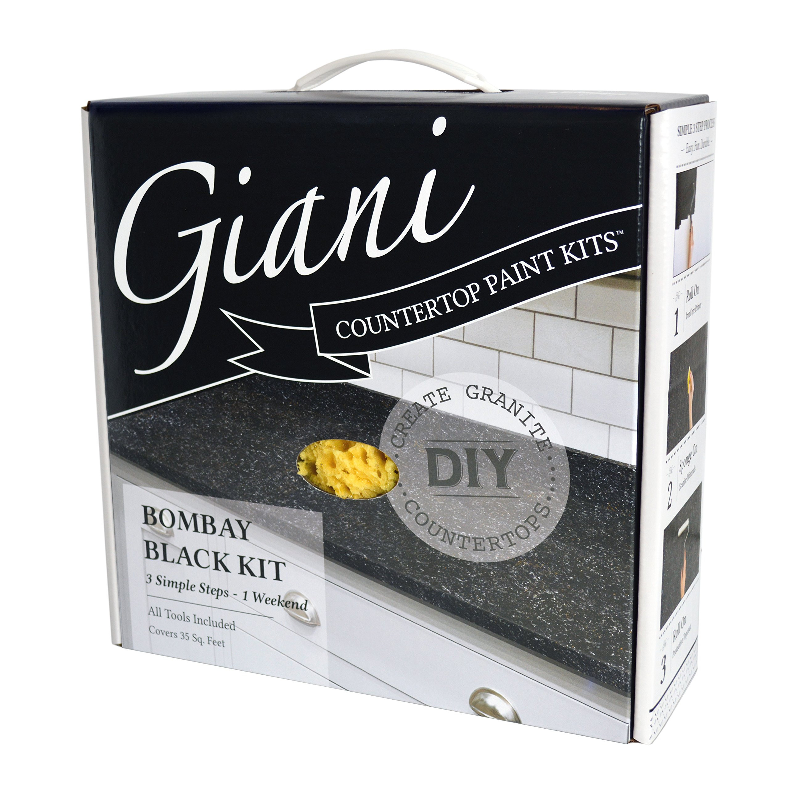 Giani Countertop Paint Kit, Bombay Black by Giani Granite