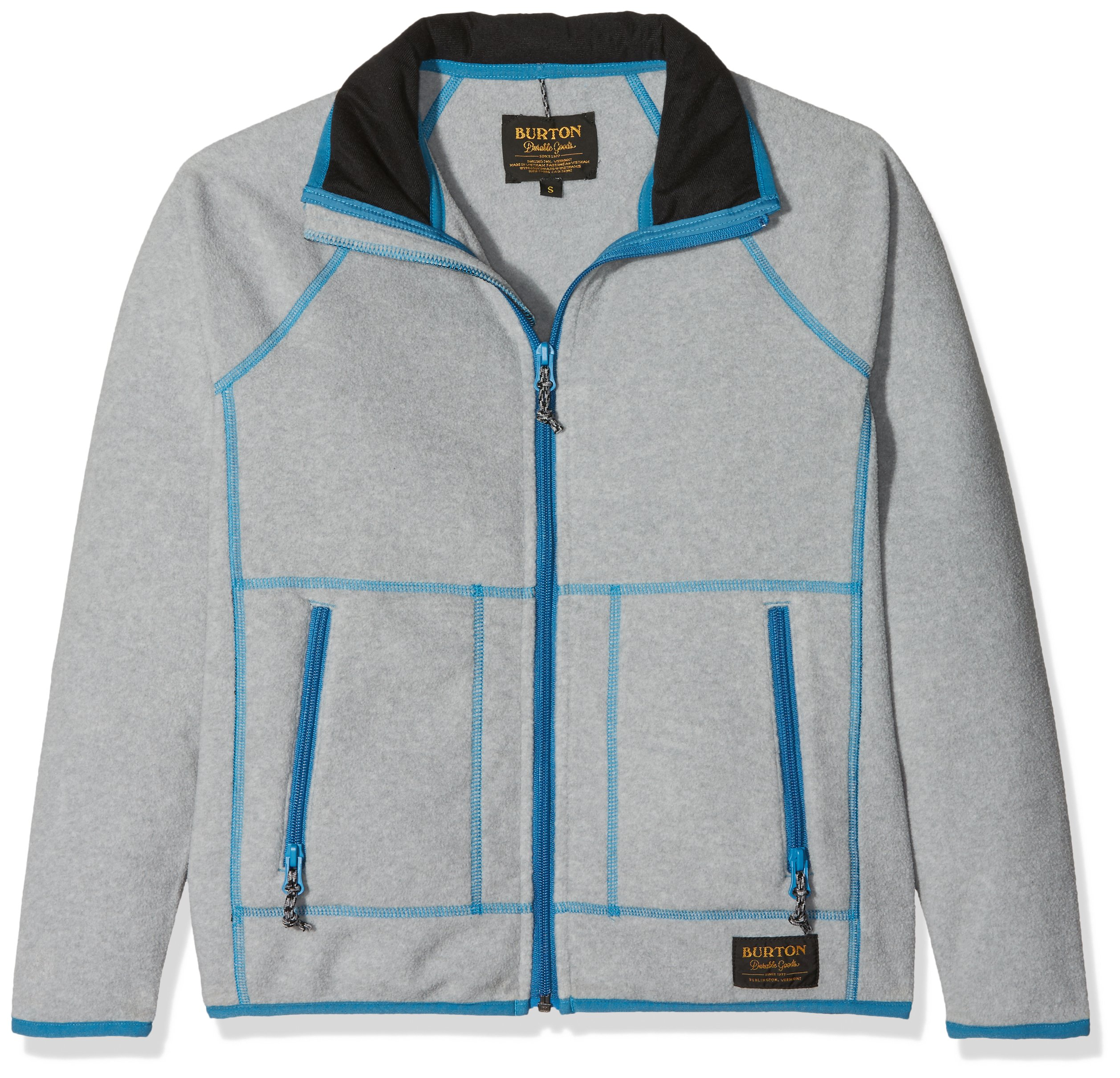 Burton Boy's Youth Sparz Full-Zip Hoodie Htrmnt / Mntnr S by Burton