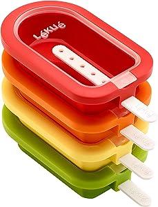 Lekue Stackable 4 Pieces Popsicle Mould, One Size, Multicolour