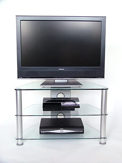 Mobile Porta Tv Vetro.Demagio Dm021 Mobile Porta Tv In Vetro Trasparente Con 3 Ripiani