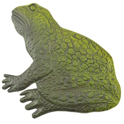 """Frog Stepping Stone Yard and Garden Decor Green Cast Iron Large 12.75"""" : Garden & Outdoor"""