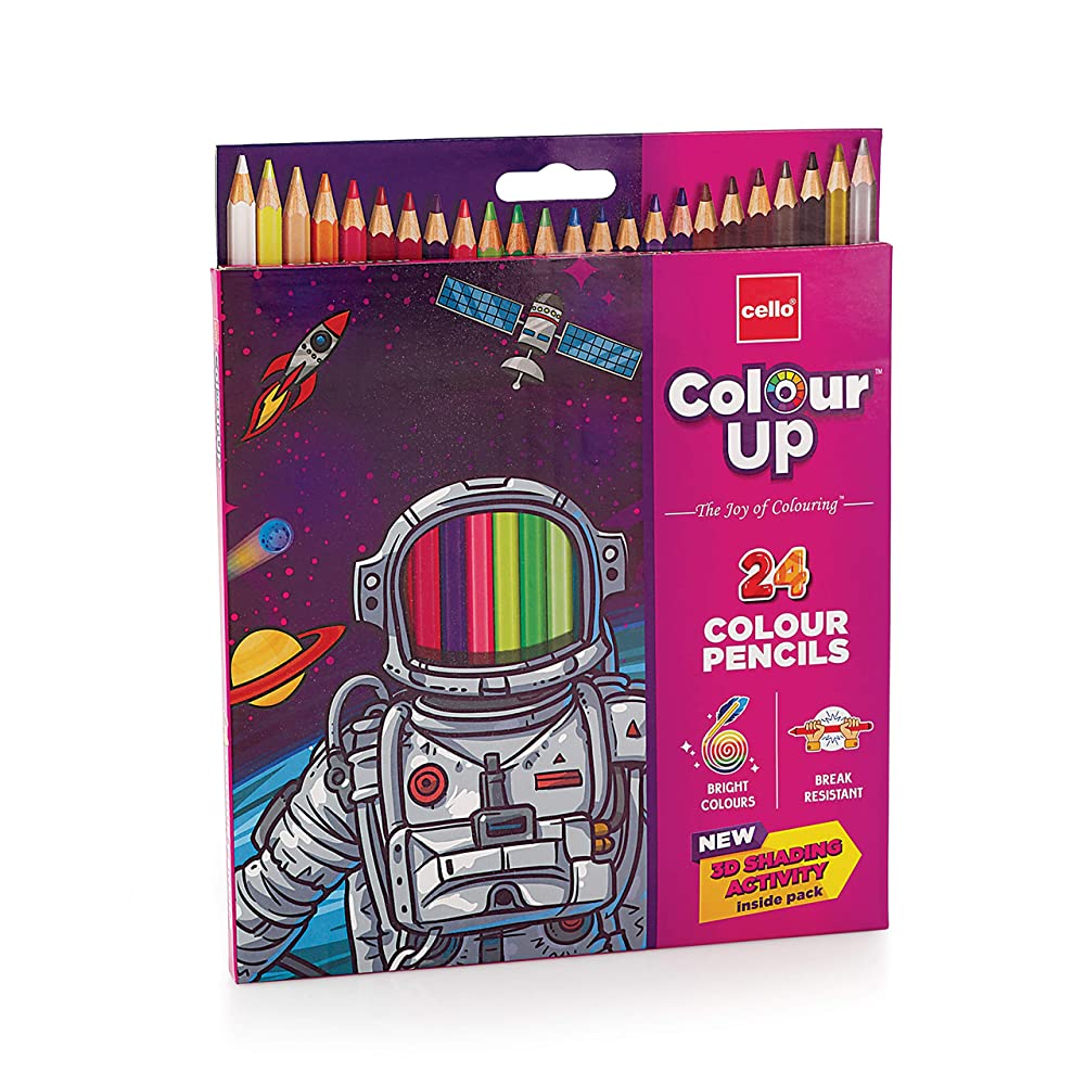 [Apply 5% off coupon] Cello ColourUp Color Pencil Set -Pack of 24