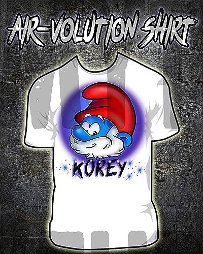 a4b26d945 Amazon.com: Personalized Airbrush Papa Smurf Shirt: Handmade