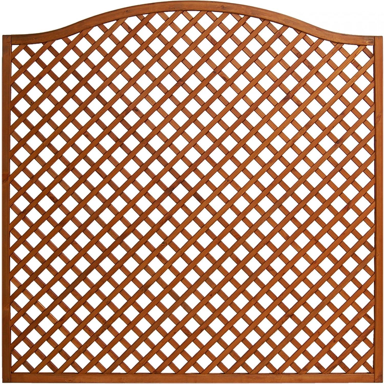 Andrewex wooden fence, fencing panel, garden fence 164 180 x 180, varnished, teak