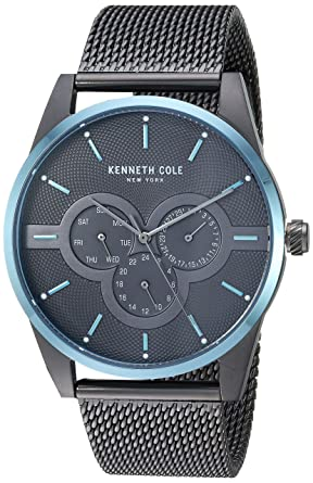 Kenneth Cole New York Mens Quartz Stainless Steel Casual Watch, Color:Grey (Model