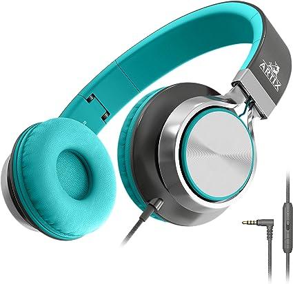 Artix Cuffie CL750 Pieghevoli con Microfono, NRGSound Cuffie Compatte, Perfette per BambiniAdolescentiAdulti (Turchese)