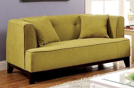 Furniture of America Elsa Neo-Retro Love Seat, Green