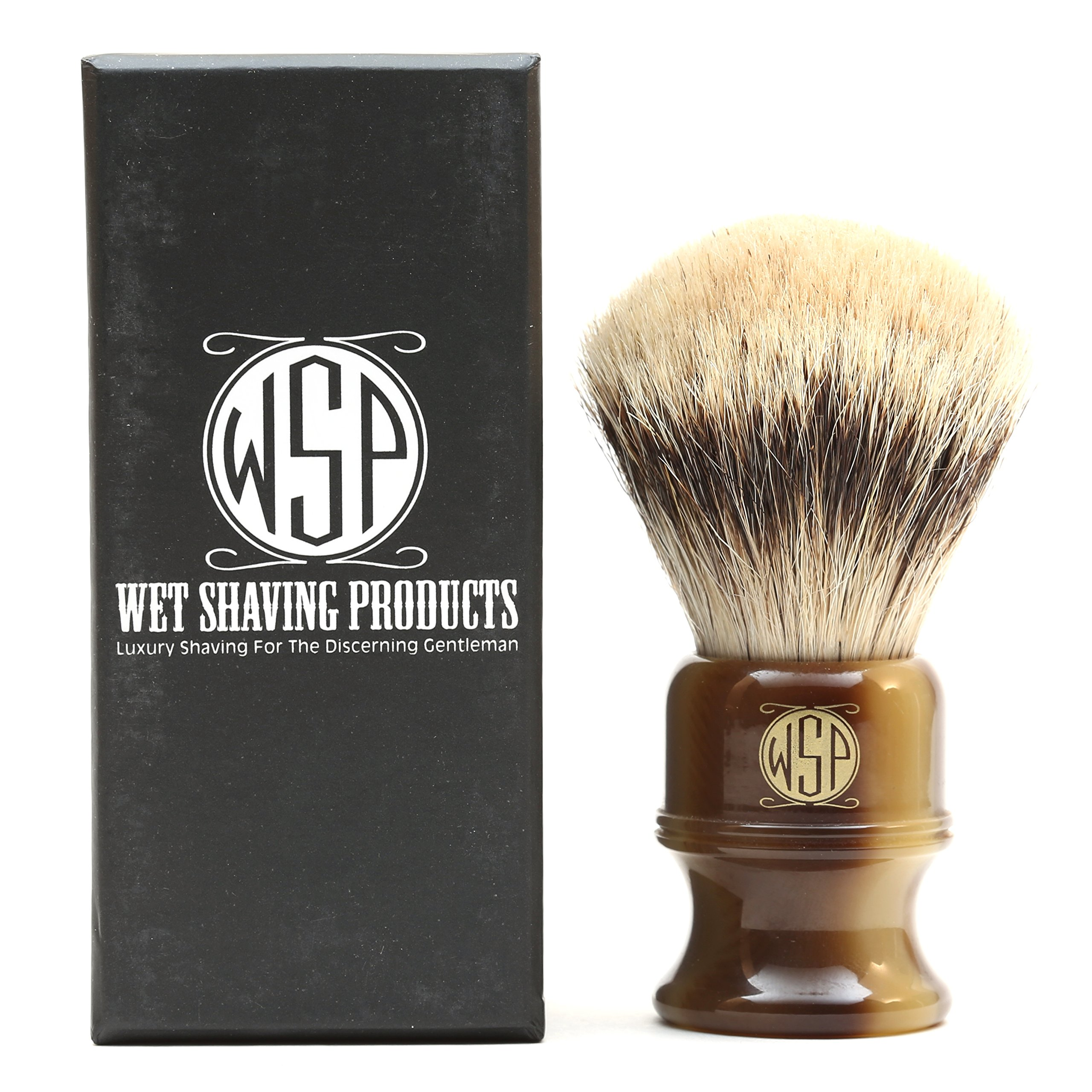 Shaving Brush High Mountain White Silvertip Badger Large (26mm) Extra Dense WSP ''Stubby'' by Wet Shaving Products