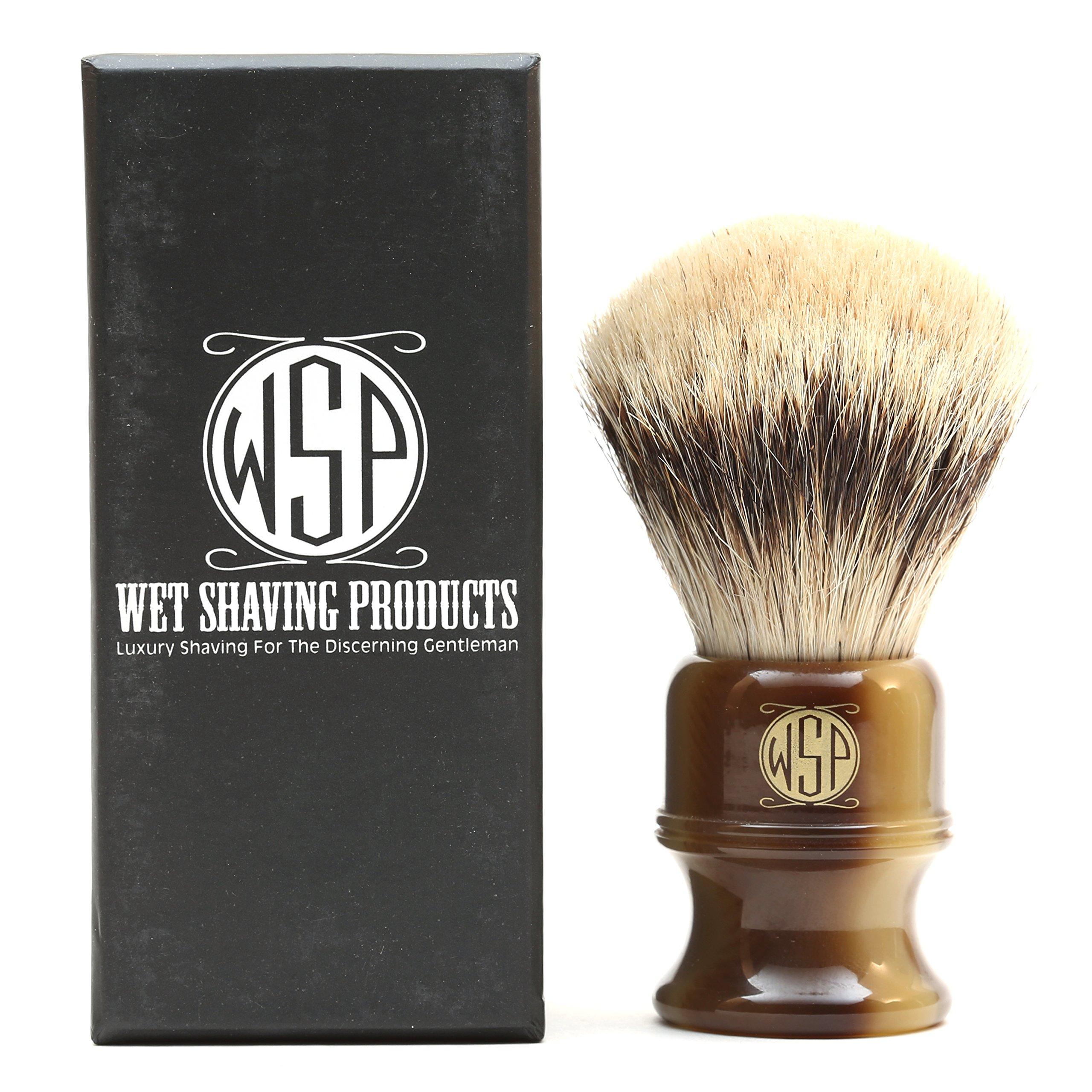 """Shaving Brush High Mountain White Silvertip Badger Large (26mm) Extra Dense WSP ''Stubby"""""""