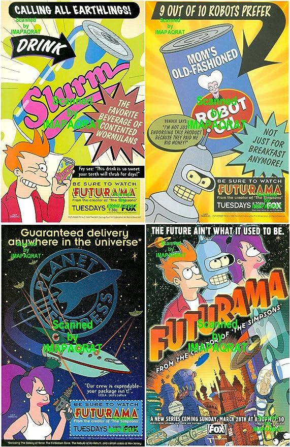 Gift Wall Art ART PRINT Fry and Leela illustration TV series Futurama