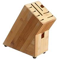 Zeller 25319 Messerblock, Bamboo, ca. 22 x 9 x 22 cm
