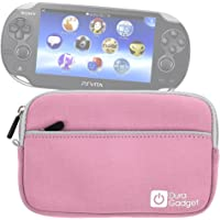 "DURAGADGET Pink 7"" Water and Scratch-Resistant Neoprene Case - Suitable for Sony PS Vita"