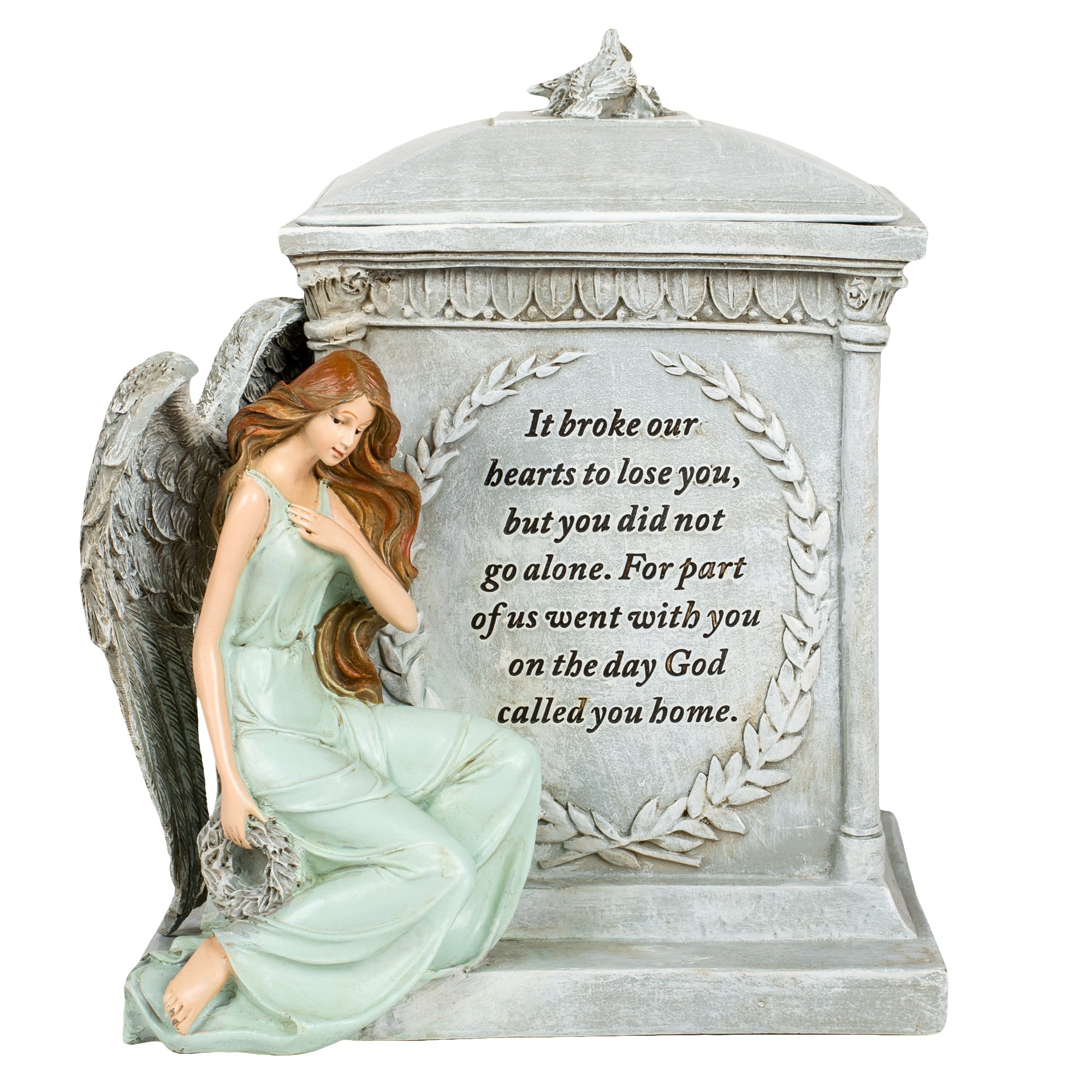 Roman 48476 8.5'' Inch Height Memorial Urn Forever with the Angels