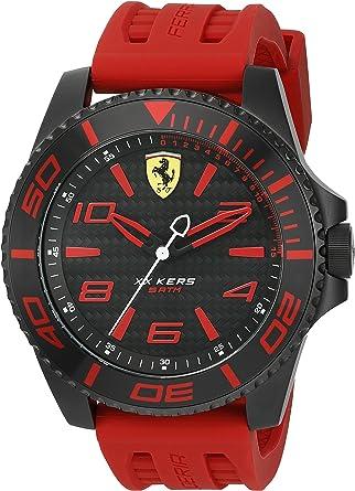 Amazon Com Ferrari 0830308 Xx Kers Reloj Analógico De Cuarzo Japonés Rojo Para Hombre Watches