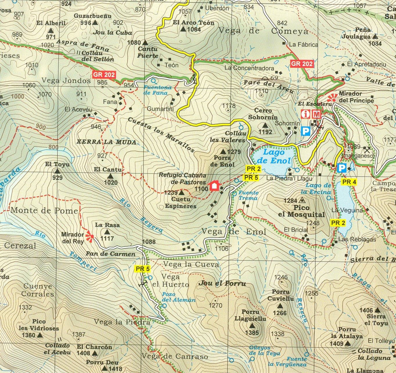 Picos de Europa Parque Nacional 1:40.000 conjunto de 2 mapas ...