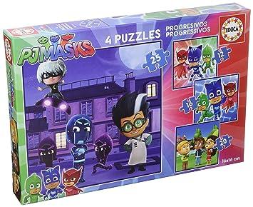 PJ Masks - Set de 4 Puzzles progresivos de 12, 16, 20 y 25