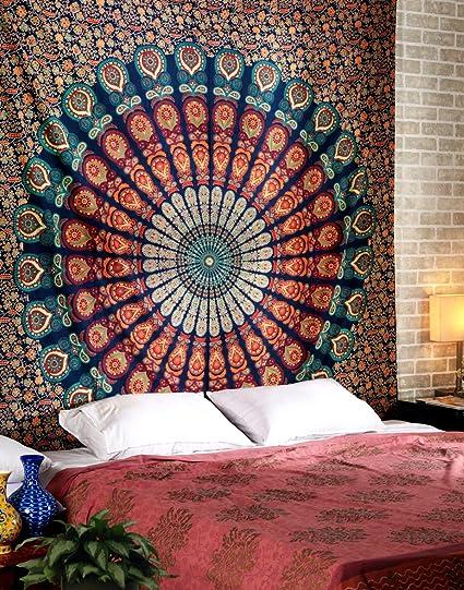 Amazon.com: RAJRANG Large Buddhist Mandala Tapestry Hippie Hippy ...