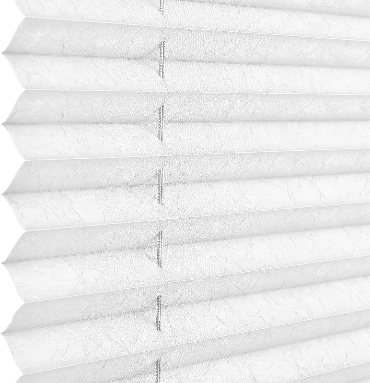 neu.haus 35 x 125 cm bianco in diverse dimensioni nero grigio bianco /® colori: panna fissaggio con clip senza bisogno di fori con trapano Tapparelle plissettate Klemmfix per proteggere dal sole e dalla luce