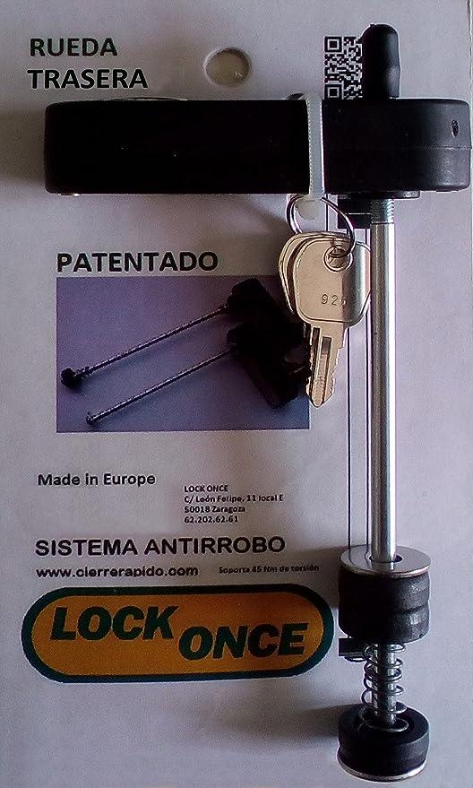 Lock Once Candado Antirrobo para Rueda Trasera de Bicicletas: Amazon.es: Deportes y aire libre