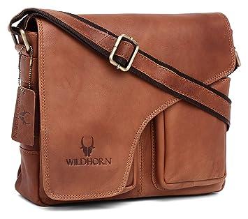 WildHorn Men s Vintage Leather Brown Messenger Bag  Amazon.in  Bags ... 7384059cdaaf1