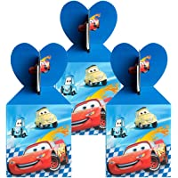 18Pcs Race Car Party Favor Goodie Boxes Lighting McQueen Car Candy Treat Boxes Party Supplies Snack Chocolate Cookie…